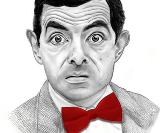 Bow Tie Mr. Bean Printable art Download digital download art prints, funny art, funny prints, digital prints, art prints