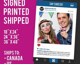 Instagram Frame, Prop Sign,  Photo Booth Prop, Instagram Wedding Sign, Marketing, Printed Props, Social Media Cutouts, Selfie
