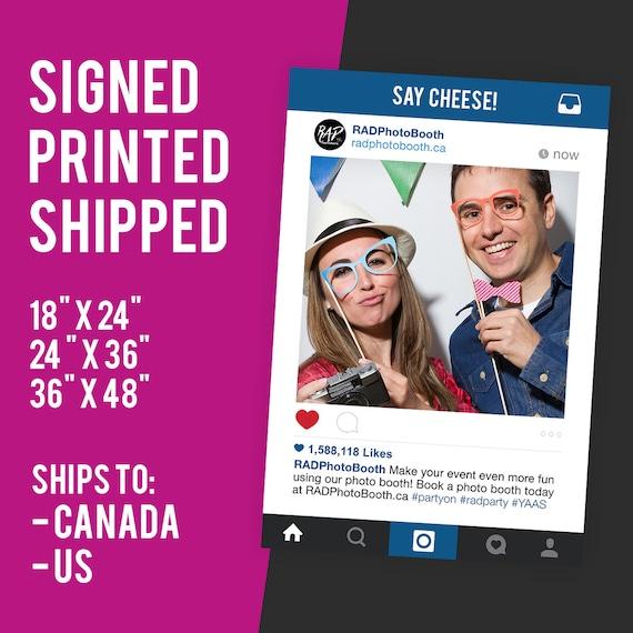 Instagram Frame Prop Sign Photo Booth Prop Instagram Etsy