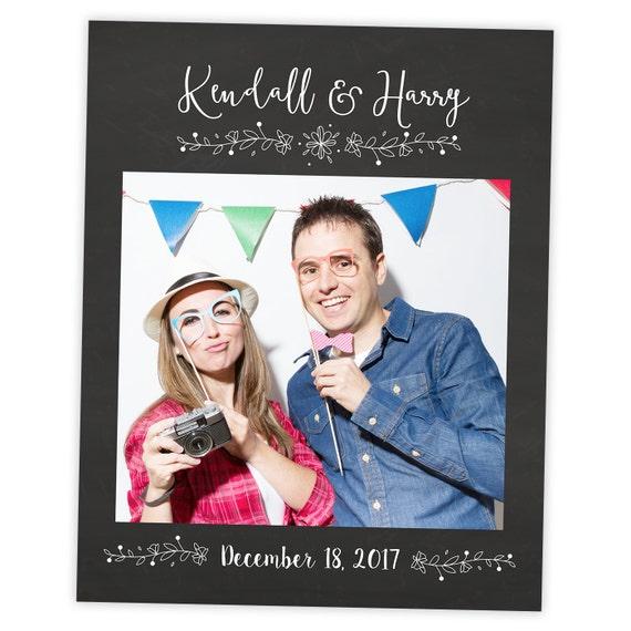 Pizarra marco Selfie Prop Regalo de la boda Boda foto Prop | Etsy