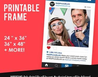 Instagram Frame, Instagram Cutout, Social Frame Prop, Social Cutout, Wedding Photo Booth Prop, Wedding Sign, Social Media { DIY Printable }