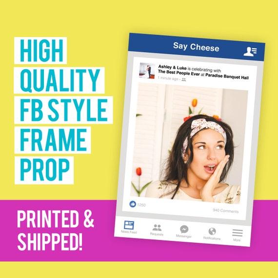 Fb Style Frame Cutout Prop Social Media Cutout Social Media Etsy