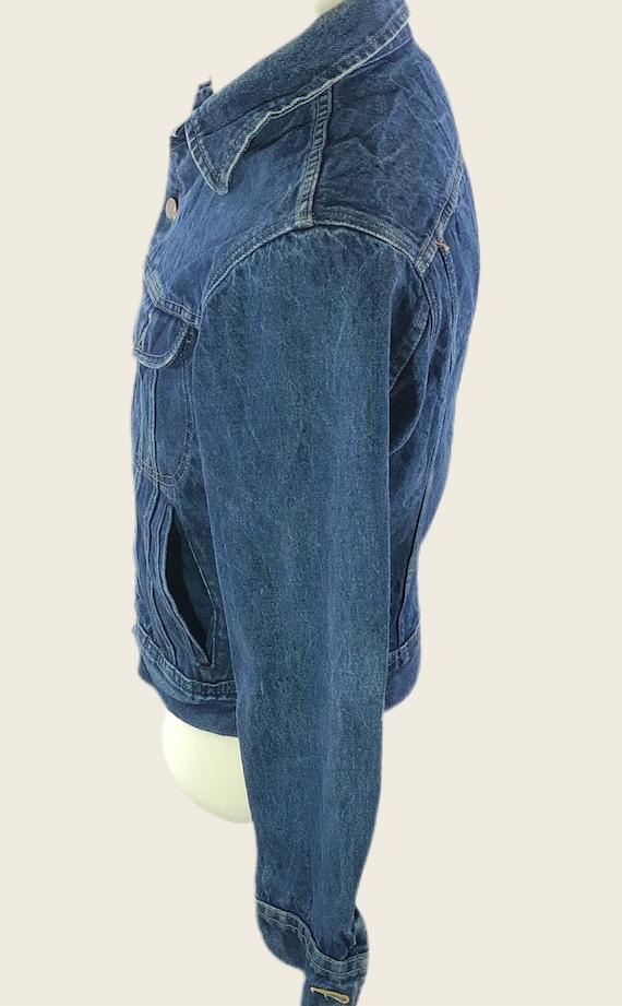 Vintage 60s 70s Denim Jacket Men's Lee Denim Jack… - image 4