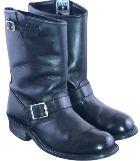 Vintage 80s Frye Boots Black Motorcycle Boots Harn
