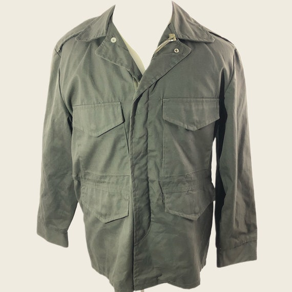 Vintage 70s Men's Hunting Field Jacket Army Green