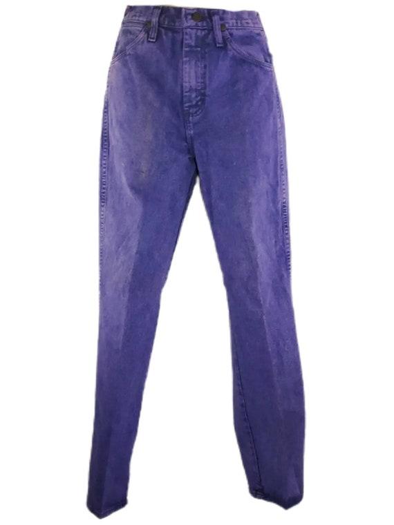 Vintage 80s 90s High Waisted Purple Mom Jeans like