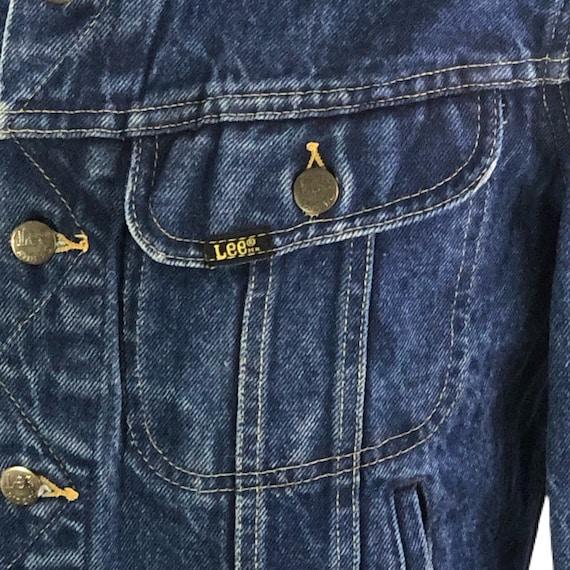 Vintage 60s 70s Denim Jacket Men's Lee Denim Jack… - image 7