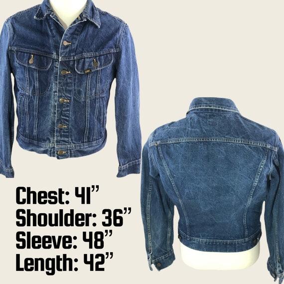 Vintage 60s 70s Denim Jacket Men's Lee Denim Jack… - image 5
