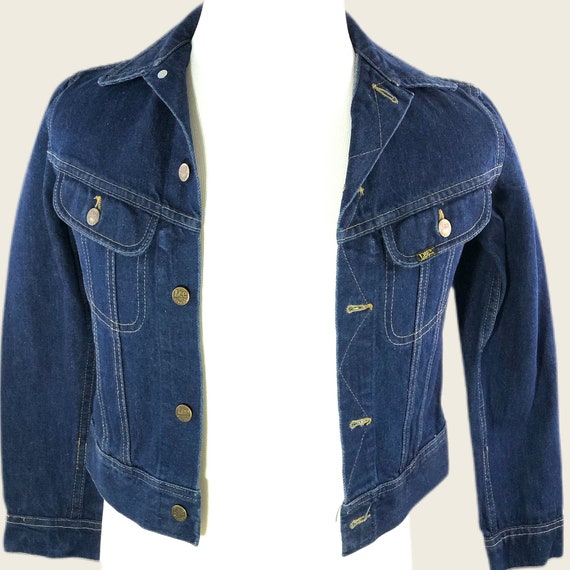 Vintage 60s 70s Men's Lee Denim Jacket Union Made… - image 1