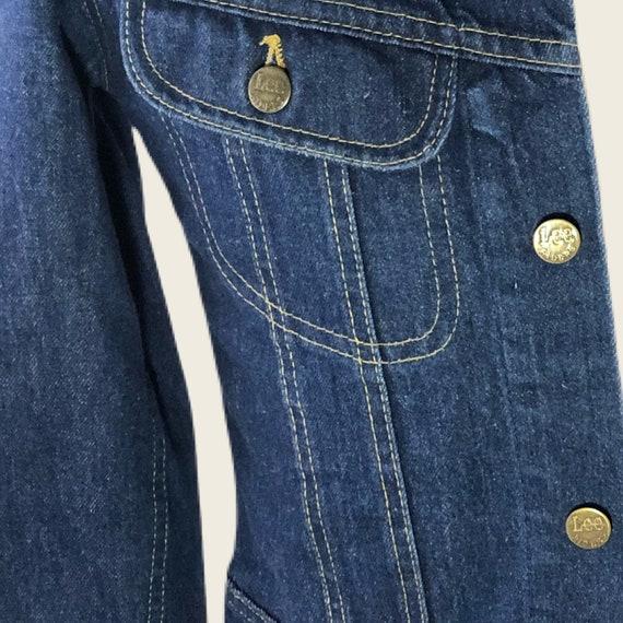 Vintage 60s 70s Men's Lee Denim Jacket Union Made… - image 6