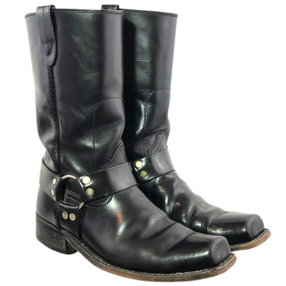 Vintage 70s Harness Boots Motorcycle Boots Biker B
