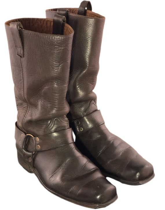 Vintage 70s Harness Boots Vintage Sears Boots Moto