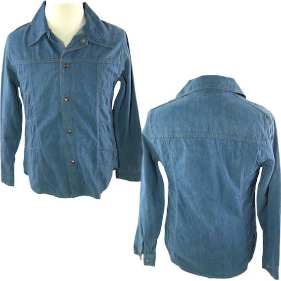 Vintage 70s Denim Jacket Mens Vintage Denim Shirt