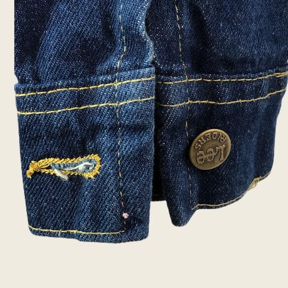 Vintage 60s 70s Men's Lee Denim Jacket Union Made… - image 8