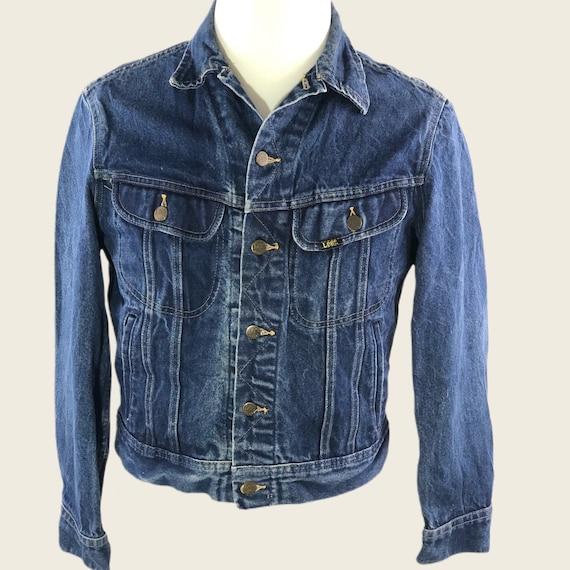 Vintage 60s 70s Denim Jacket Men's Lee Denim Jack… - image 1