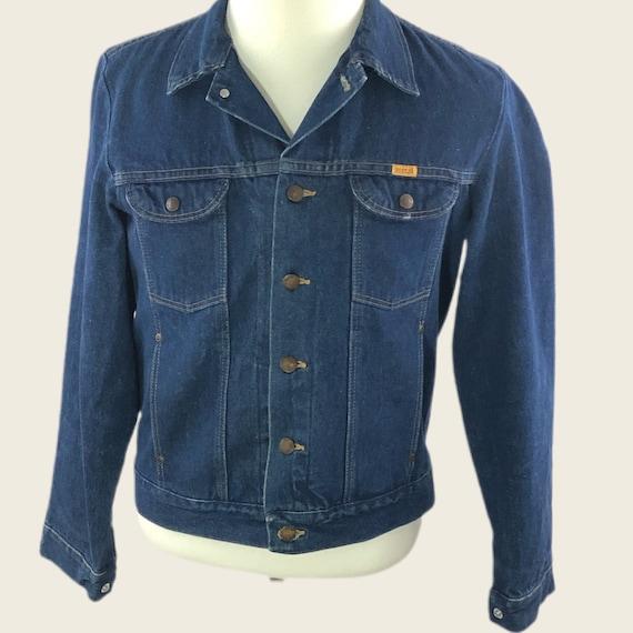 Vintage 60s 70s Denim Jacket Men's Rustler Faded D