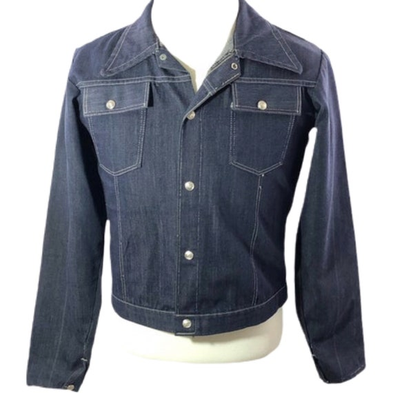 Vintage 60s 70s Men's Denim Jacket Faded Denim Jac