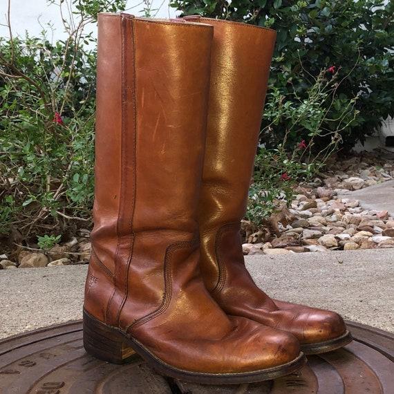 Vintage Fryel Boots 70s Biker Boots Engineer Boots