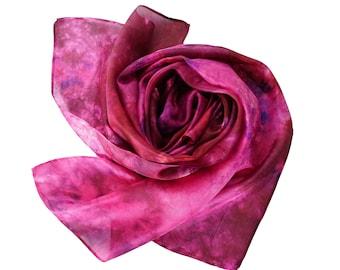 Silk Scarf,  Silk Women Shawl, Wrap Shawl /f315/