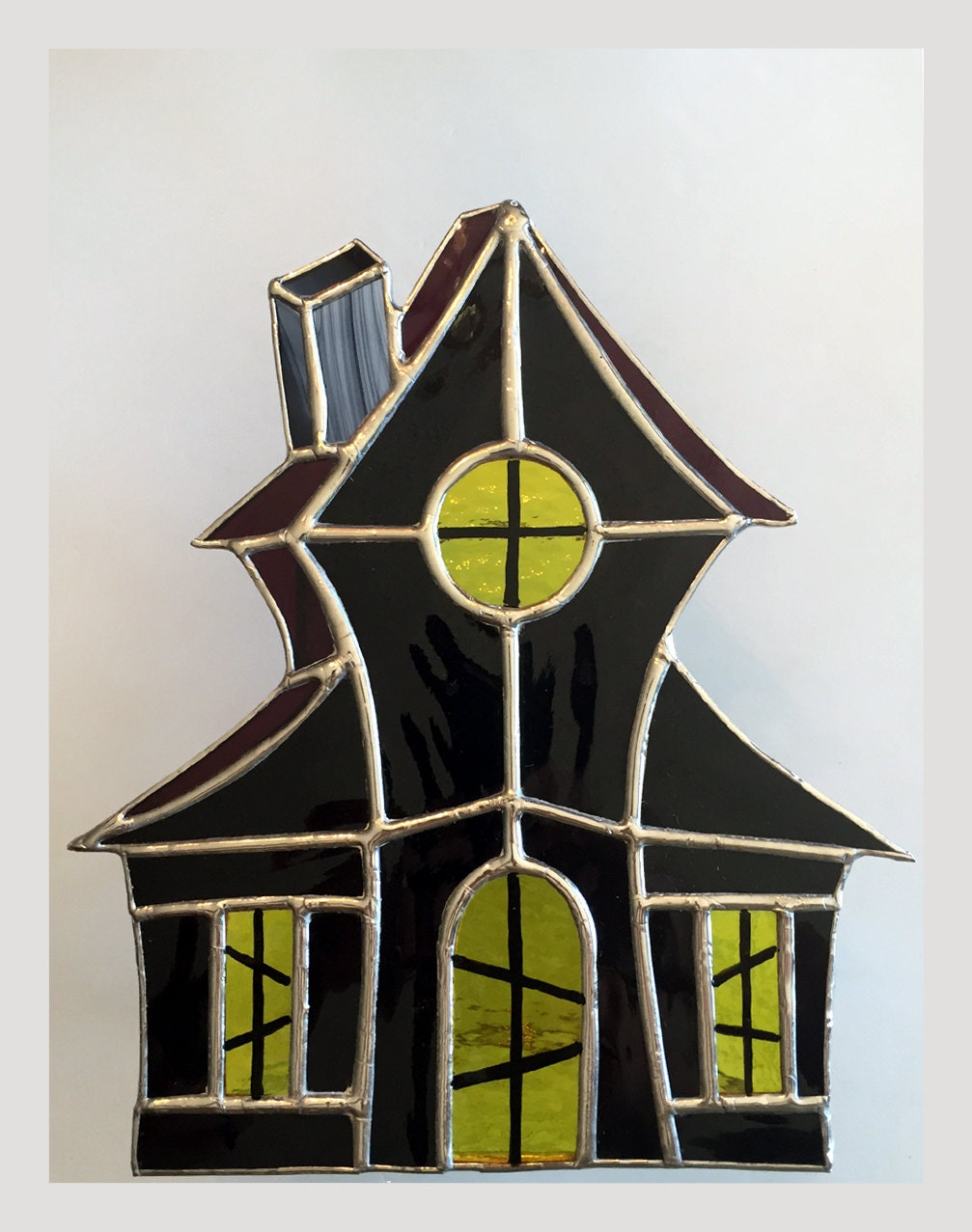 Haunted House Stained Glass Suncatchers