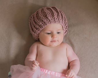 ffdfe1be2a1 Baby pixie hat hand knitted baby hat baby knitted hat
