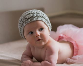 3fcbfafd4d2 Baby beret hand knitted baby hat baby knitted beret newborn