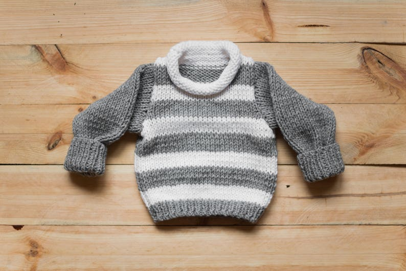 bb8950fae Hand knit baby sweater knitted baby sweater striped sweater