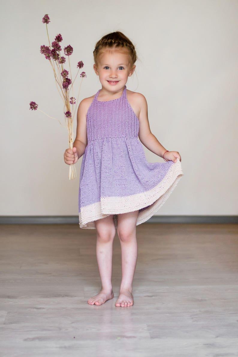 Strickkleid Für Mädchen Lila Mädchenkleid Lila Kleid Für Etsy