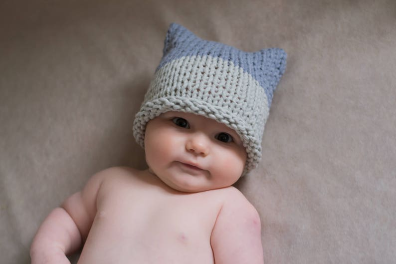 5e37d3d6984 Baby pussyhat hand knitted baby hat baby knitted hat