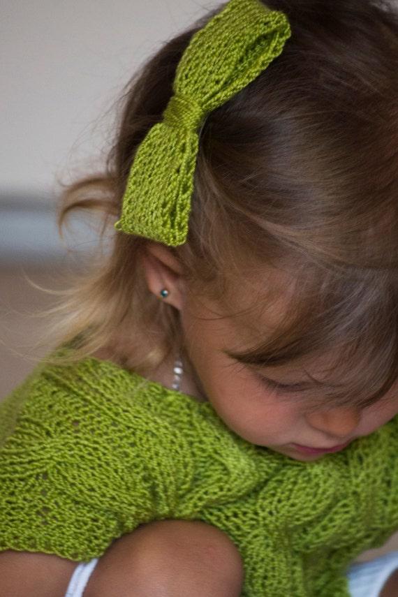 Gestrickte Pullover für Mädchen grünen Pullover für ein | Etsy