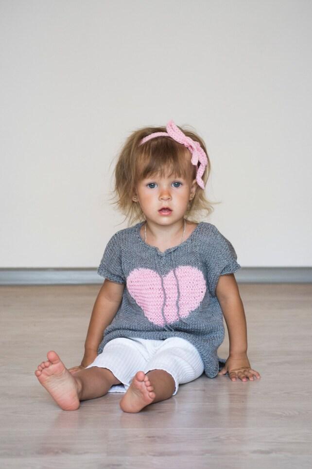 Gestrickter Pulli für Mädchen / / grau Mädchen Weste 3 bis 4 | Etsy