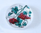 Signed Piero Fornasetti Ashtray with Grape Clusters and Leaves - RARE