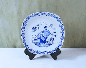 Decorative Wall Plate by Kari Nyquist for Stavangerflint Norway