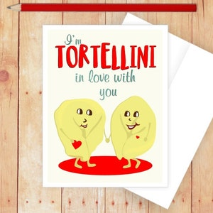 Love Cards for Him Pasta Puns Food Pun Cards Funny Romantic Card Food Puns Anniversary Card Funny Italian Food Love Cards for Her