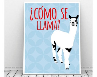 Save the Drama for Your Llama Llama Print Instant Download