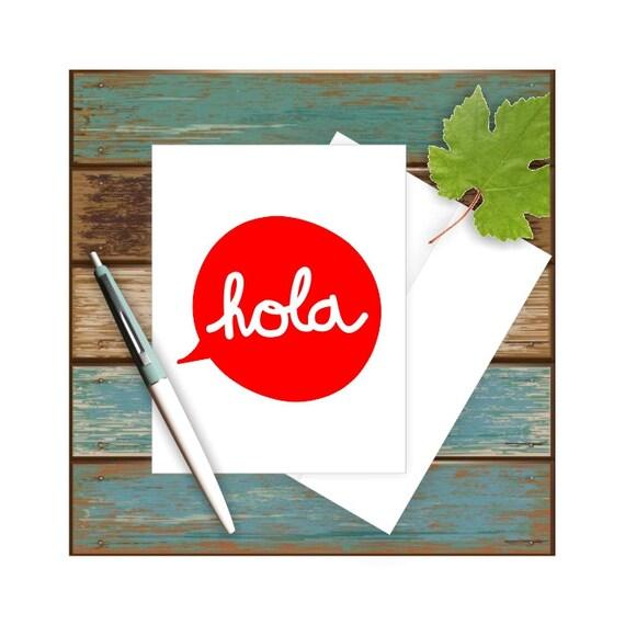 Hola Card Spanish Teacher Hello Mexican Funny