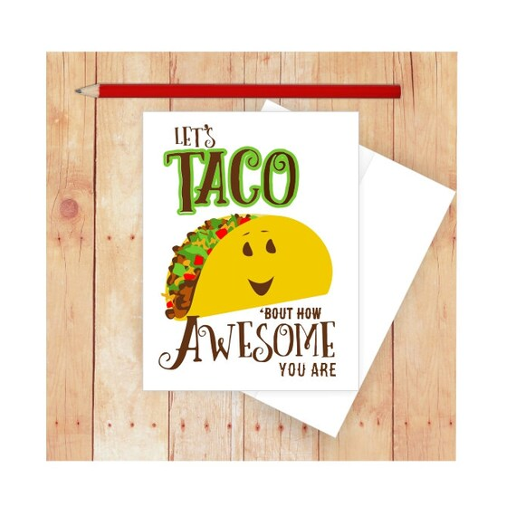 You Re Amazing Funny: Taco Card You're Amazing Pun Cards Funny Graduation