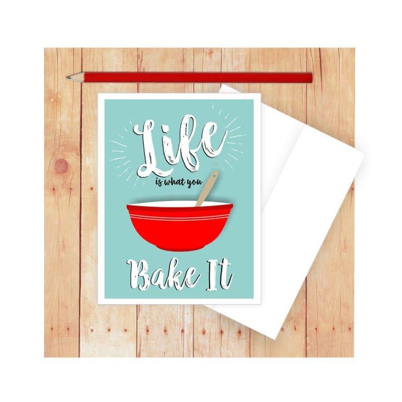 Baking Puns, Cooking Card, Food Puns, Baking Card, Life Quote Card, Funny  Thank You Card, Food Pun Cards, Baking Invitation, Baker Card