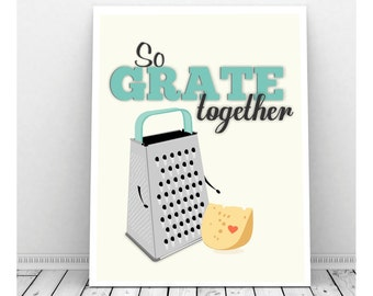 Funny Kitchen Art, Instant Download, Cheese Grater Art, Kitchen Sign, Kitchen Print, Funny Kitchen Sign, Cheese Art, Cute Kitchen Art