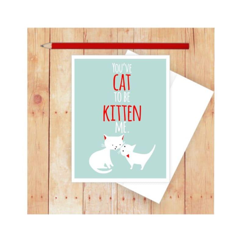 Cat Stationery Birthday Card Funny Greeting Kitten