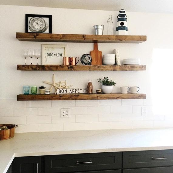 free shipping wood floating shelves primitive shelf etsy rh etsy com Floating Shelves Ideas Floating Shelves Decorating Ideas
