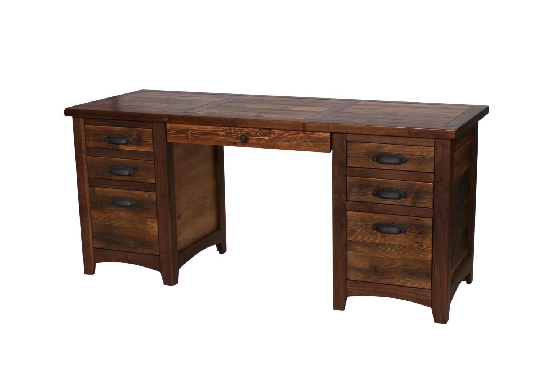 Rustic Walnut Executive Desk Rustic Desk Wood Desk Rustic