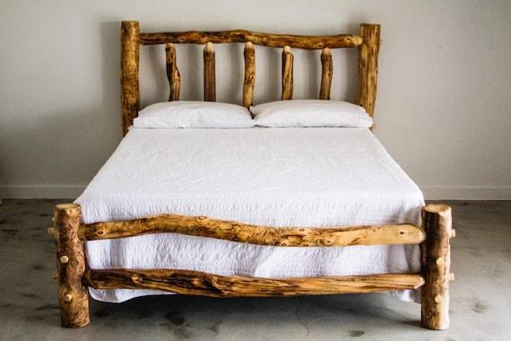 Blue Ridge Log Bed With Short Footboard, Blue Ridge Furniture