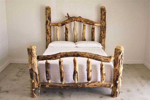 Aspen Log Wild Grizzly Bed Log Bed Log Furniture Log Cabin Etsy