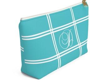 aa95e61ff074 Turquoise makeup bag | Etsy