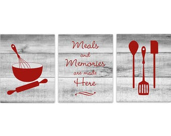 Popular Items For Red Kitchen Decor
