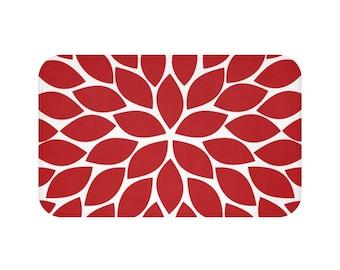 Red Kitchen Rug Etsy