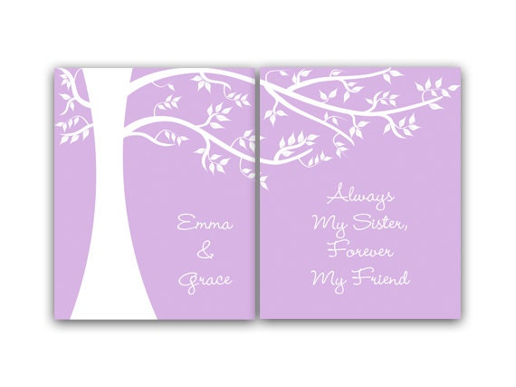 Sisters CANVAS Wall Art, Sister Quote, Personalized Kids Wall Art ...