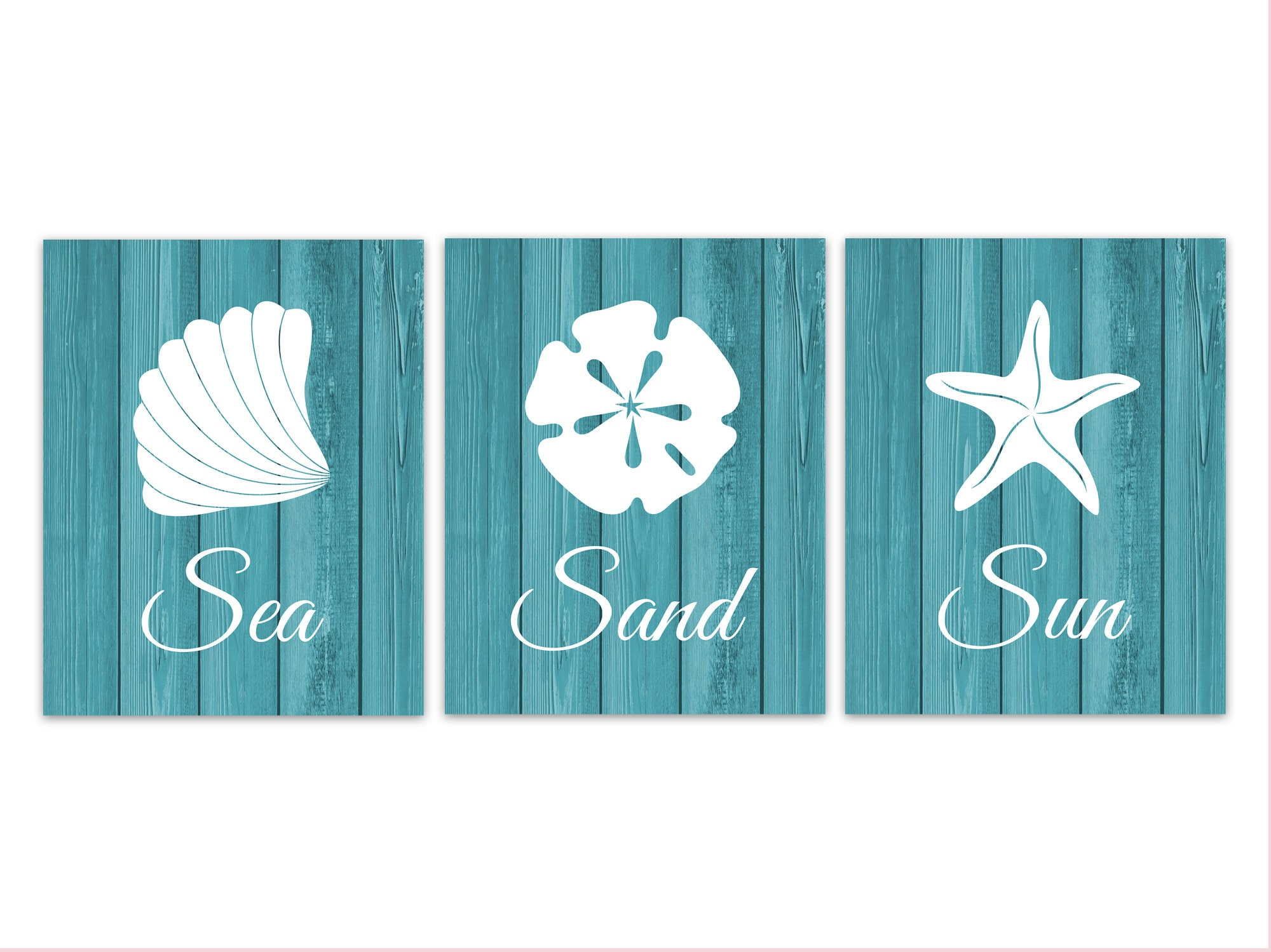 Turquoise Home Decor Beach House Wall Art Ocean Bathroom