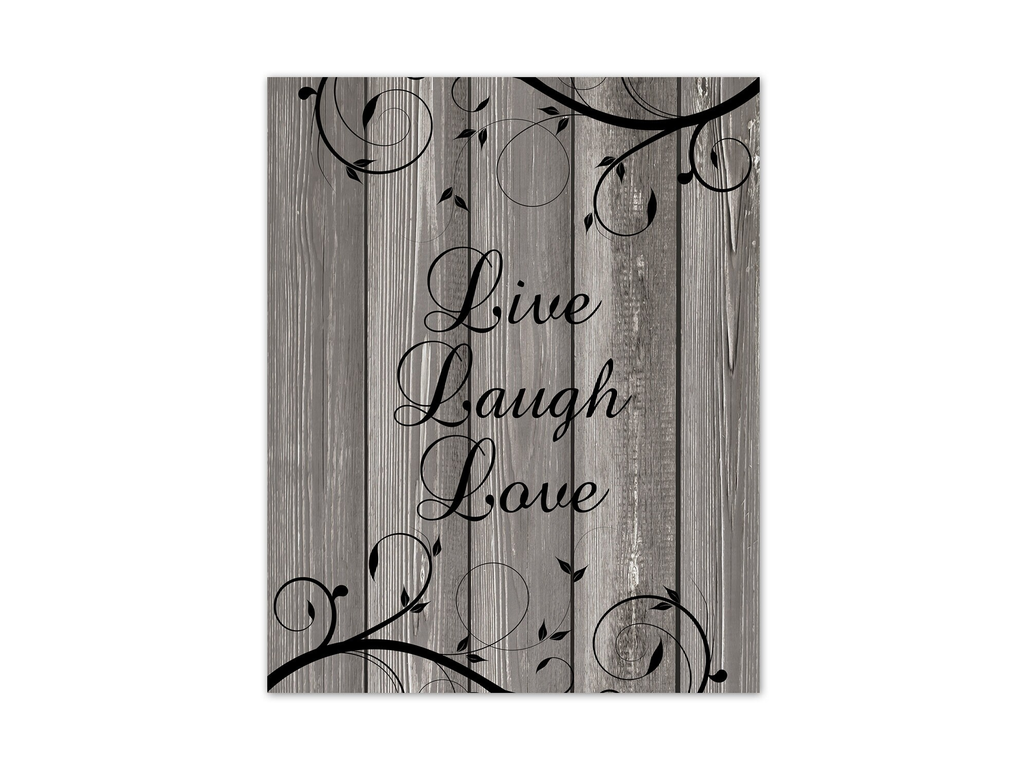Live Laugh Love Wall Art Print Or Canvas Gray Home Decor
